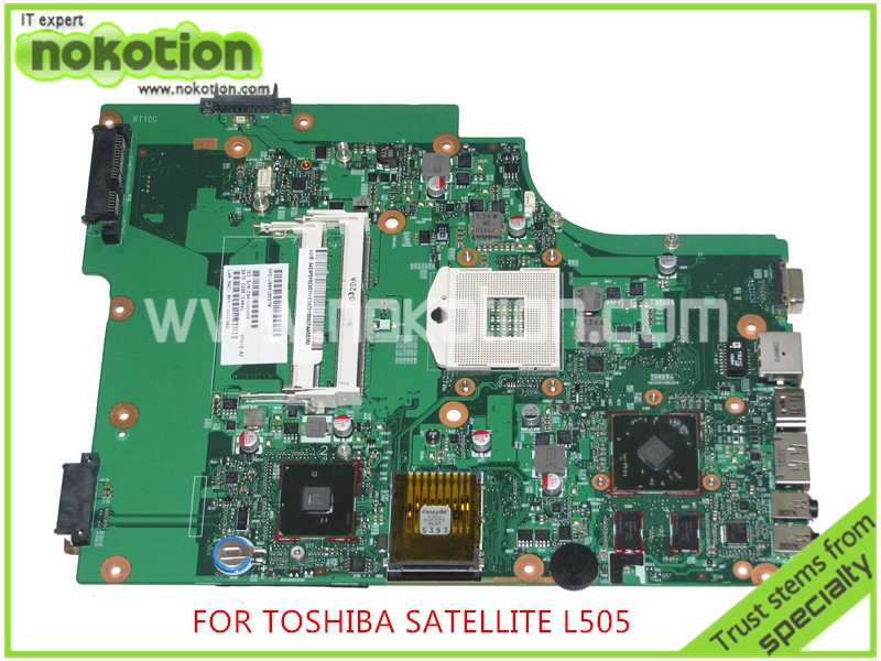 NOKOTION SPS V000185570 For toshiba satellite L505 Laptop motherboard intel HM55 ATI HD4500 Graphics DDR3 nokotion a000175380 laptop motherboard for toshiba satellite c840 l840 main board ati hd7670m graphics ddr3 daby3cmb8e0