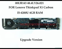 High Quality FOR Lenovo Thinkpad X1 Carbon Laptop Motherboard FRU 00UR143 Upgrade Version 48 4LY26 021