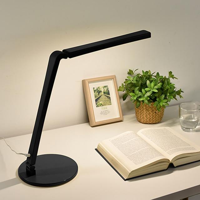 Мода СВЕТОДИОДНЫЕ Настольные Лампы 8 Вт Складная 3 уровень Затемнения Сенсорный переключатель Прикроватная Исследование Бюро Свет для Ночного Чтения и Письменной Работы белый