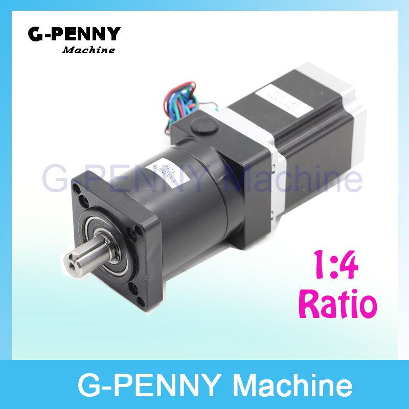 High Torque! CNC NEMA23 Stepper motor 57X76 mm with Nema23 Planetary Reduction Ratio 4:1 planet gearbox 57 motor speed reducer 2pcs lot high torque planetary gearbox is a no 17 stepping motor 788 oz in 15 1 20 1 25 1 with a 34 mm motor body length