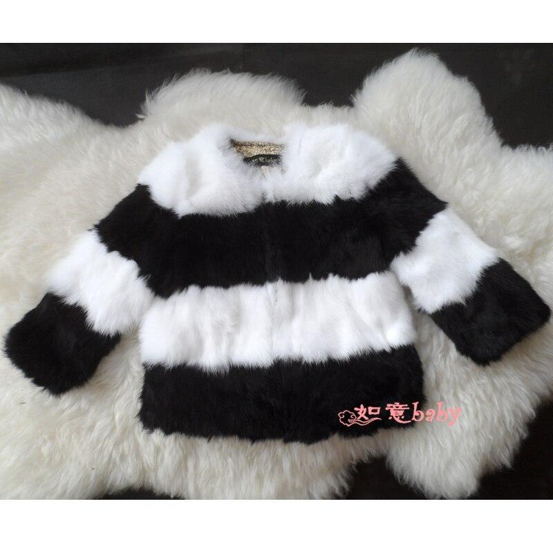 ⑧Moda popular nuevo 100% abrigos de piel real, piel de Conejo ...
