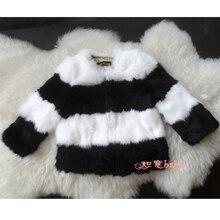 Popular Fashion New 100% Real fur coats,Rabbit fur outerwear kids winter coats jacket baby fur jackets free shipping CFBB03N