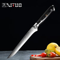 XITUO 6 inch Boning Knife Japan vg10 Damascus Steel Kitchen Chef Knife Sharp Cleaver Cutting Knife Cut Fruit Chef Cooking Tools