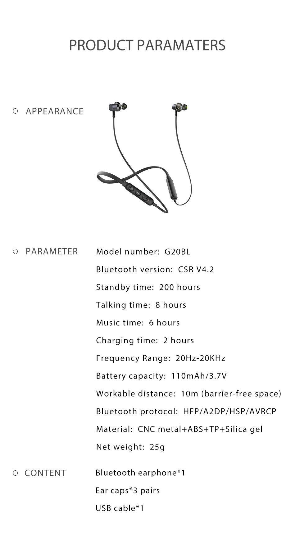 Awei G20BL bluetooth headset