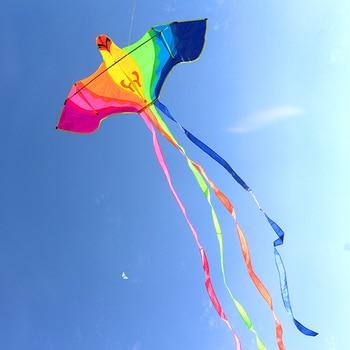 цена на free shipping high quality large bird kite with handle line kite fabric ripstop kite factory wholesale child kite family fun