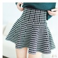 fashion all-match Limited Special Offer Womens Spring And Autumn Umbrella With Houndstooth Knit skirts
