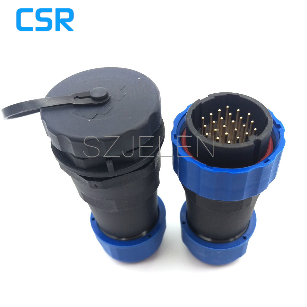 SD28TP-ZM, Waterproof Connector 24 Pin ,IP67, 24pin In Line Connectors, Outdoor Power Cable Male And Female Connector
