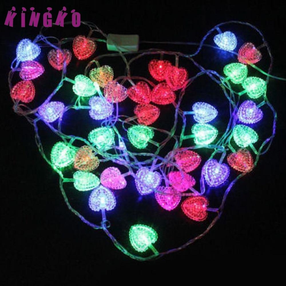 Kingko 4.5M 28LED Christmas Peach Heart Light String Fairy Wedding Party Light Decor hol ...