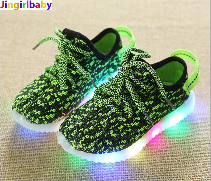 2018 Fashion Colorful lighted Children shoes LED Lovely Cool New brand Cool kids sneakers casual baby boys girls shoes
