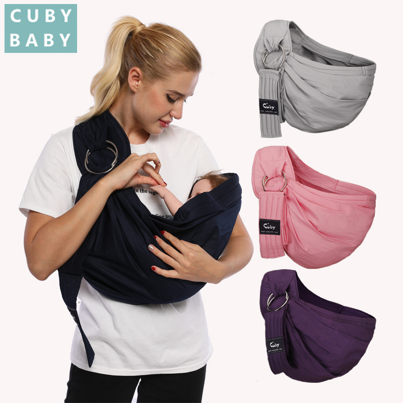 CUBY Baby Carrier,Natural Cotton Baby Sling Baby Newborn Breastfeeding Ergonomics Easy To Carry 5in1 Function Use Withstand 20KG