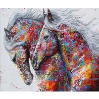 Diamond Painting Horse Kits Handmade Needlework DIY Diamond Embroidery Animal Rhinestone Mosaic 3d Picture Horse