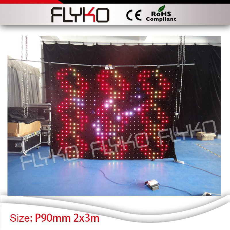 led video curtain hd P9CM 2x3m roof top ceiling star light stage used led display vision backdrop
