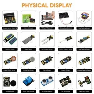 Image 4 - Keyestudio 37 в 1 стартовый набор датчика с микро: битовая плата для BBC MicroBit DIY проектов (включая микро: битовая плата)