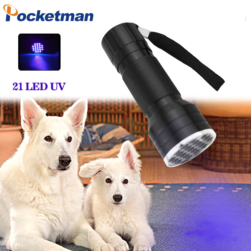 21 LED UV Flashlight Torch  395-400nm Ultra Violet Light Lamp For AAA Battery For Marker Checker Detection