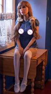 Image 2 - دمية جنسية امرأة الكبار جميلة الأوروبية 165 سنتيمتر واقعية سيليكون الحب دمية مع العظام ، الرجال الجنس لعب مثالية تماما b