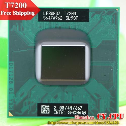 شحن مجاني intel cpu محمول كور 2 ديو t7200 cpu 4 متر المقبس 479 مخبأ/2.0 جيجا هرتز/667/ثنائي النواة المعالج