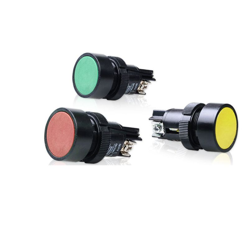 10Pcs XB2-EA121/131/142/151/161 Flat Head Economy Self-resseting Momentary Colorful Push Button Switch 10A NO NC 22mm 10pcs xb2 ea121 131 142 151 161 flat head economy self resseting momentary colorful push button switch 10a no nc 22mm