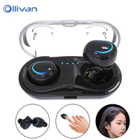 2017 New Dual TWS Q18 Wireless Bluetooth Headset HiFi Bass Earphone With Charging Box Earphones For