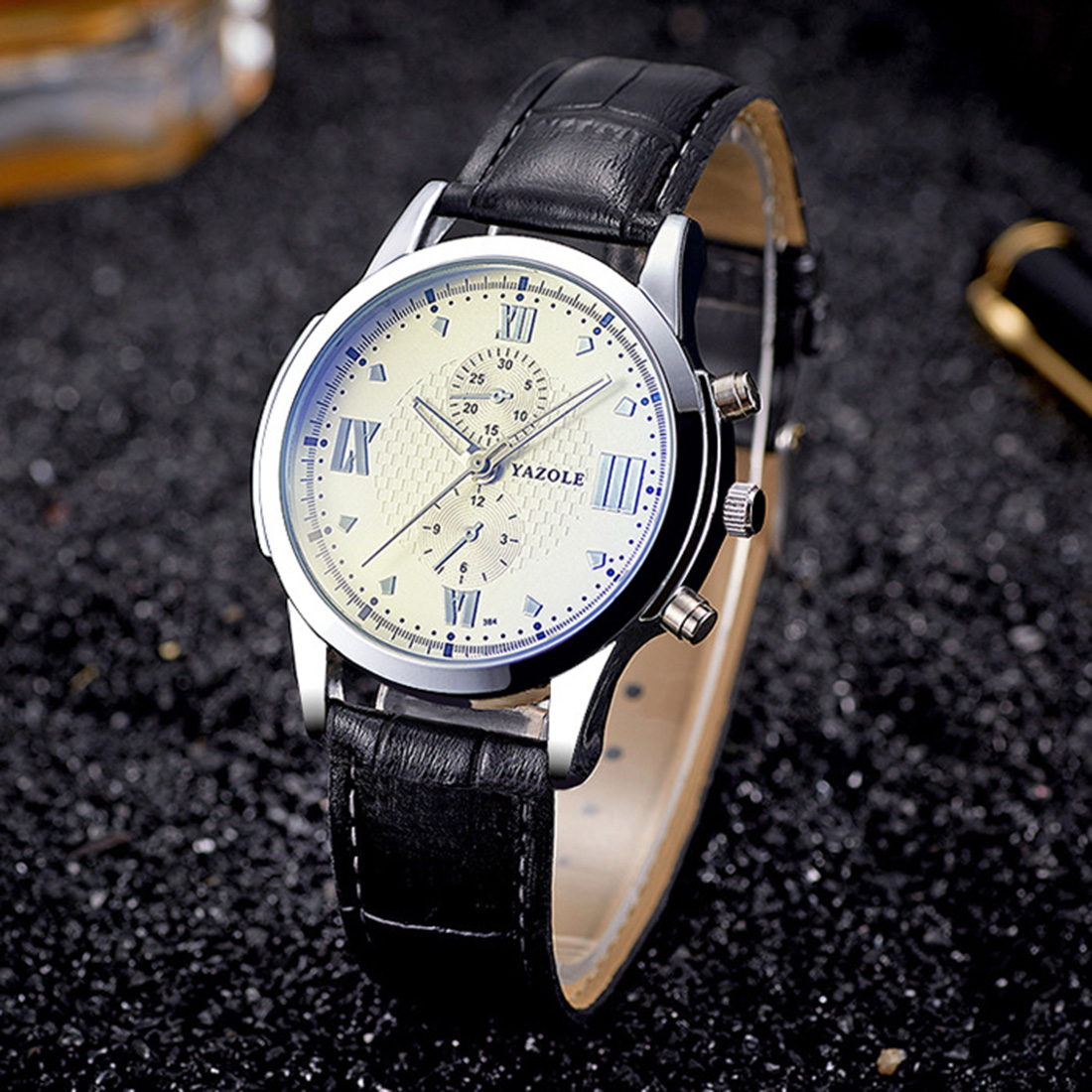 Black Watch For Men 2018 Leather Business Wristwatch Man Luxury Wathes Reloj Hombre New Fashion Father Days Gift Clock Hot Sale