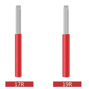 Image 3 - 50pcs/lot 3/4/5/7/ 9/17/19/21R Tattoo Needle Pen Semi Permanent Makeup Microblading Blade Manual Fog pen Needle Tattoo Accessory