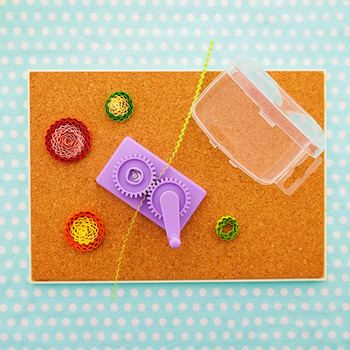 Papercraft DIY Scrapbooking Stamping Art Tool Craft Purple Plastic Paper Quilling Crimper Machine Crimping paper Craft 1