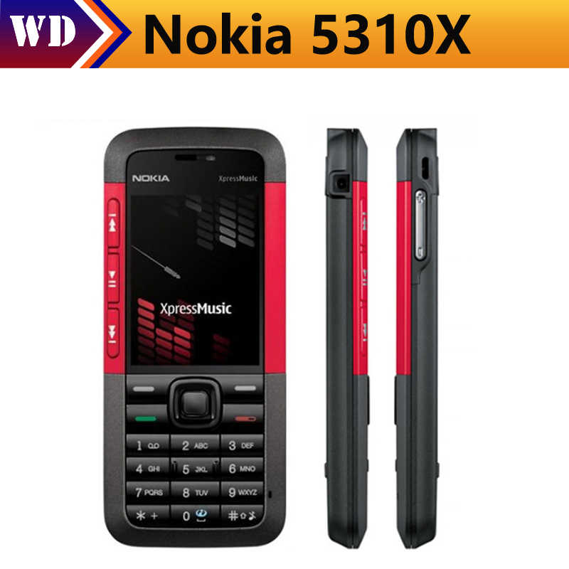 Unlocked Original Nokia 5310 Xpress Bluetooth Refurbished Mobile Phone  Support Russian keyboard Music in stock Free Shipping