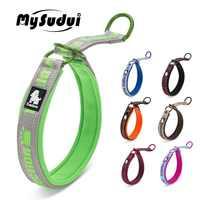 Truelove suave Perro el Collar estrangulador bordar reflectante Collar para Perro mascota Collar de choque para grandes perros pequeños, Collar de Perro de formación