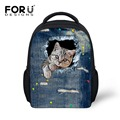 FORUDESIGNS Animal School Backpack Children Cute Cat Print Feminine Small Kindergarten Backpacks Infant Girl Baby Kids Backpacks