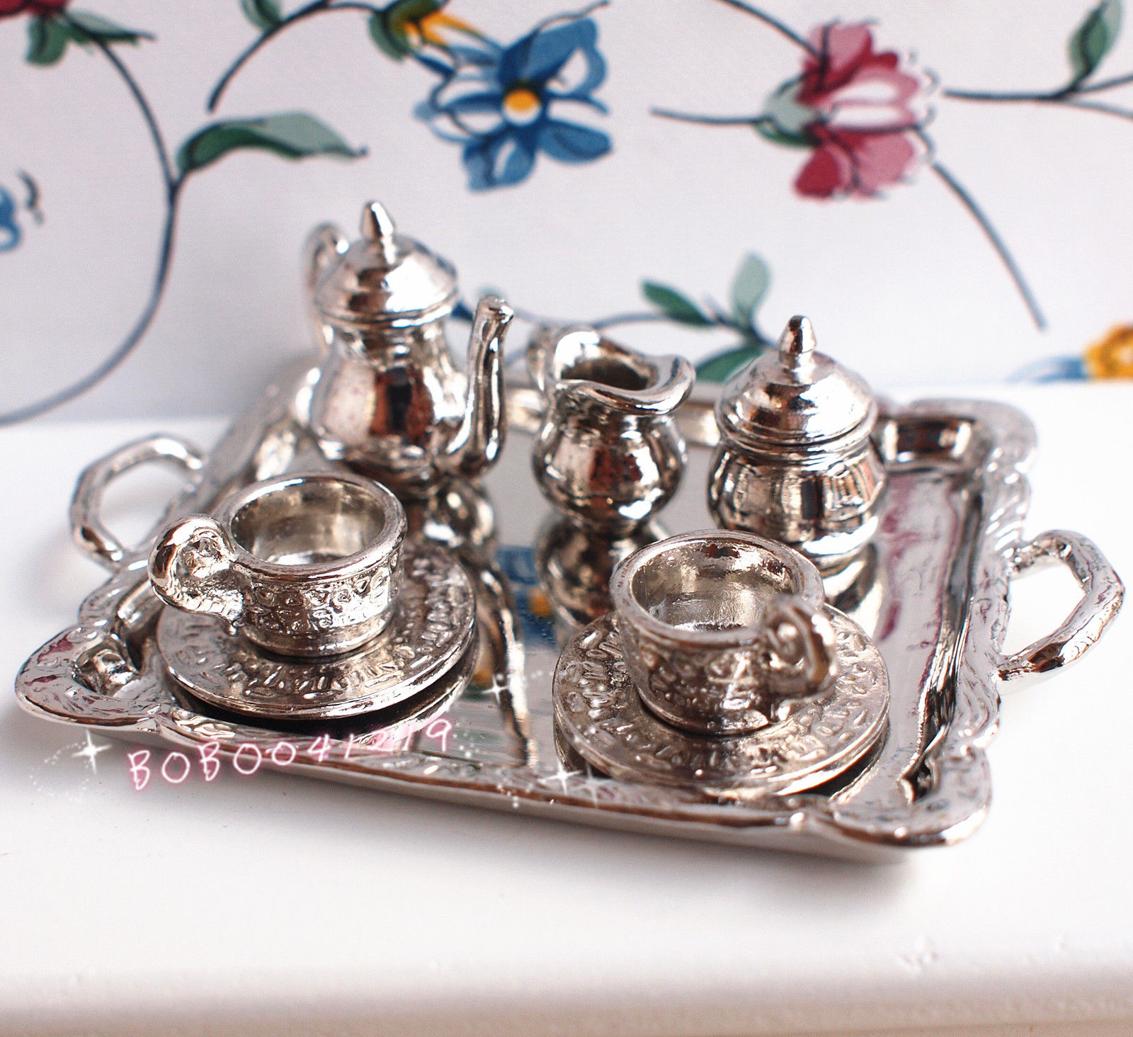 Medium Of Silver Tea Set