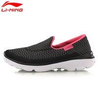 Li-ning הליכון נעלי הליכה לנשימה של נשים מקוריות קל לי נינג קלאסיים להחליק על נעלי ספורט סניקרס ACGM002