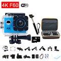 Ação à prova d' água câmera gopro hero 4 estilo f60 4 k câmera esporte Wifi Full HD 2.0 Tela Capacete Cam Mergulho Subaquático 30 m ir pro