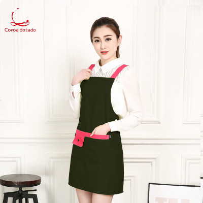 Korean version of fashion apron beauty manicurist cosmetics promotion work clothes mother and baby shop