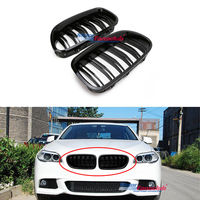 A Pair Car Racing Grille For BMW F10 F11 F18 5 Series 520i 523i 525i 530i 535i 2010 2017 M5 Style Grill Front Bumper Replacement