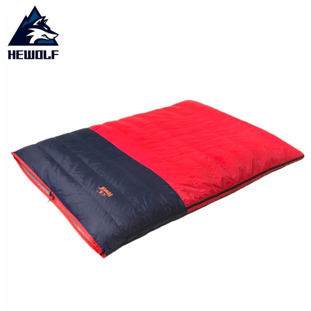 Hewolf Outdoor Warm Double Sleeping Bag Winter Detachable Bags For Camping Hiking Thicken Envelope