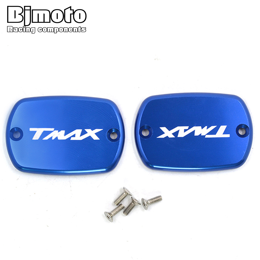 Bjmoto For Yamaha TMAX 500 2008-2011 TMAX 530 2012 2013 2014 2015 2016 Motorcycle Tmax Brake Fluid Fuel Reservoir Tank Cap Cover absorber cover cap front shock absorber cover cap for dynas 2008 2013 except 2008 fxdse