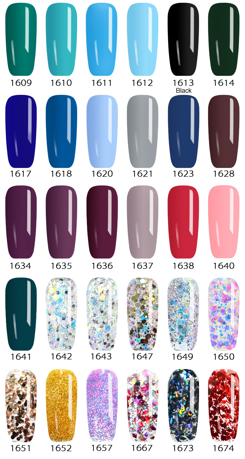New 2020 Nail Art Tips Design Manicure 60 Color UV LED Soak Off DIY Paint Gel Ink UV Gel Nail Polishes Lacquer