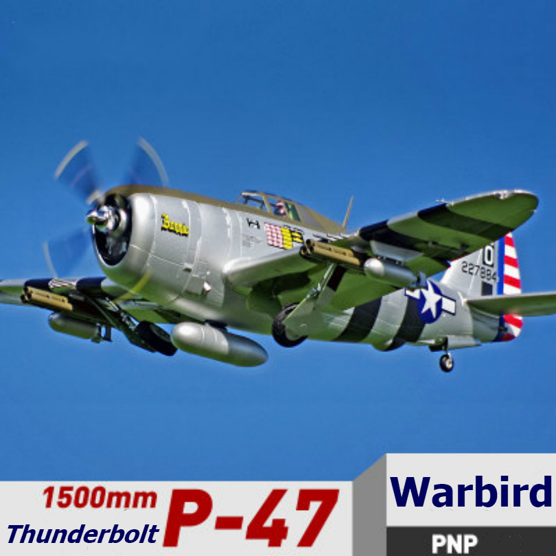FMS RC Airplane 1500mm 1 5M P47 P 47 Razorback 6CH with Retracts LED 6S EPO
