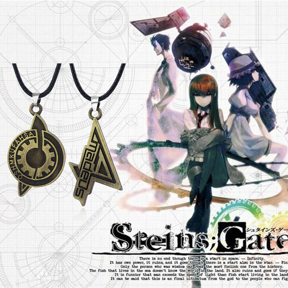 Spel Steins Gate Badge Kettingen Makise Kurisu Labmen Het Lot Van De Steen Deur Rekwisieten Hanger Voor Gamers Cosplay Sieraden gift