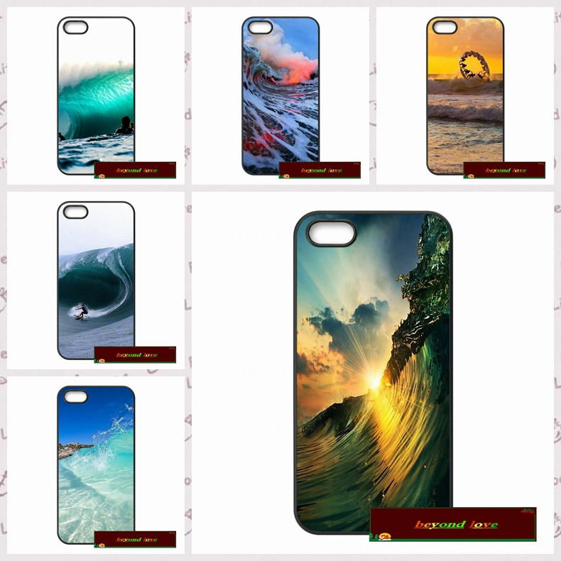 Surfing In <font><b>Hawaii</b></font> Ocean Scene <font><b>Phone</b></font> <font><b>Cases</b></font> Cover For iPhone 4 4S 5 5S 5C SE 6 6S 7 Plus 4.7 5.5 UJ0548