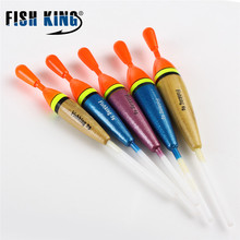 5Pcs/Set Outdoor BottomFishing Floats Set Buoy Bobber Floats Fluctuate Fishing Stick Mix Size Color For Fishing Accessories Sale