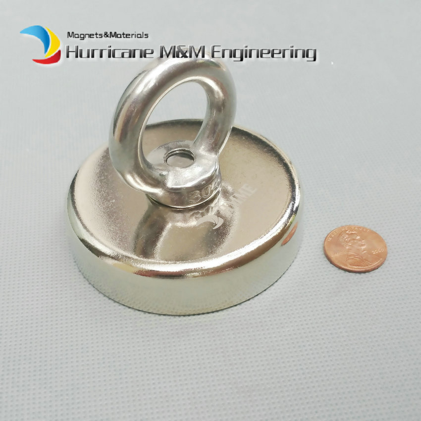 160kg Pulling Mounting Magnet Dia 75mm Magnetic Pots Ring Lifting Magnet Strong Neodymium Permanent deep sea salvage magnet