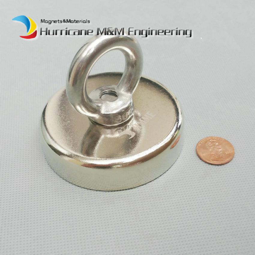 160 кг потянув монтаж Магнит диаметром 75 мм магнитный горшки кольцо подъемный Магнит сильные неодимовые постоянные глубоководных спасательных магнит