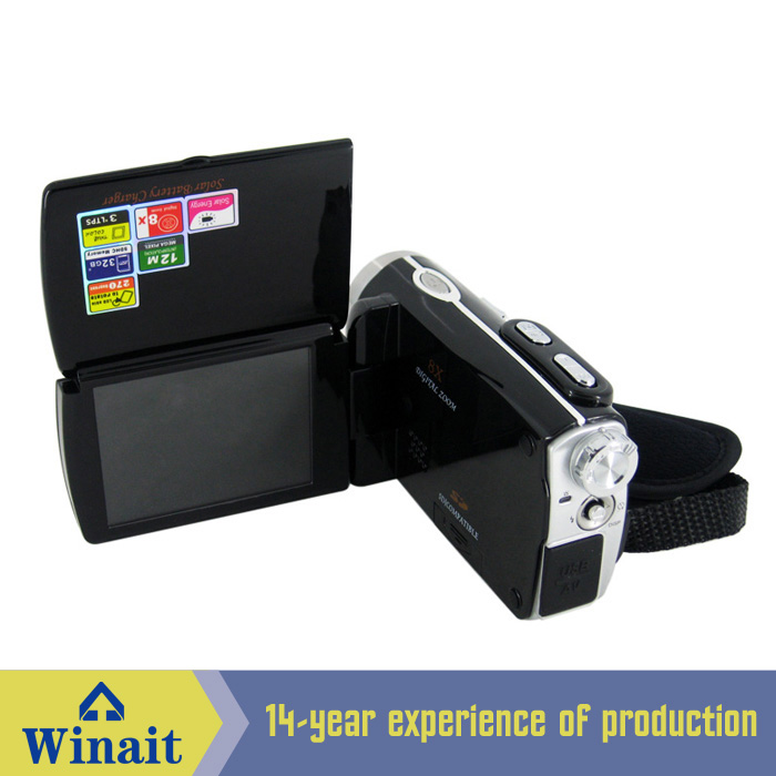 Winait Dual Solar Panel Charging Dv-t90 Digital Video Camera With Pc Camera,electronic Shutter,lithium Ion Battery Hot Sale 50-70% OFF Consumer Camcorders