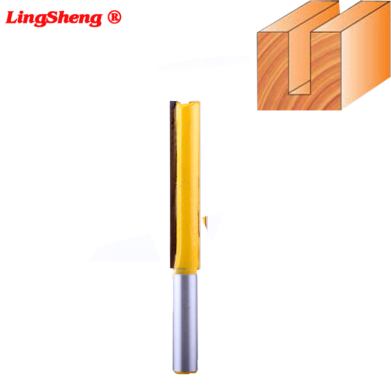 8mm Shank Straight/Dado Router Bit 3/8 Dia. X 2 Length - Woodworking cutter Wood Cutting Tool