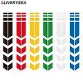SLIVERYSEA 34x5,5 см автомобильный мотоцикл крыло JDM Светоотражающая наклейка прикрепленная DIY Pinstripe автомобильные наклейки для YAMAHA HONDA