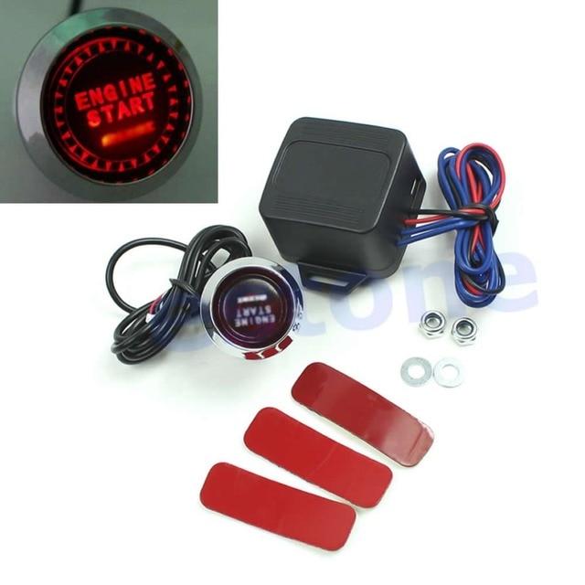 12v Car Engine Start Push Button Switch Ignition Starter Kit Red Led