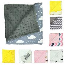 80x75 см; флис; лист новорожденного пеленать Обёрточная бумага мягкая зима детское постельное белье получения Одеяло Манта Bebes спальный мешок