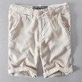 Itália Estilo Nova Marca board shorts Homens nadar calções homens swimwear calções de Linho casuais moda roupas soltas Dos Homens calças 38