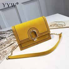 Yellow Crossbody Bag For Women Pu Leather Sling Shoulder Dull Polish Rectangle Solid Ladies Bolsa Feminina 2018 Designer