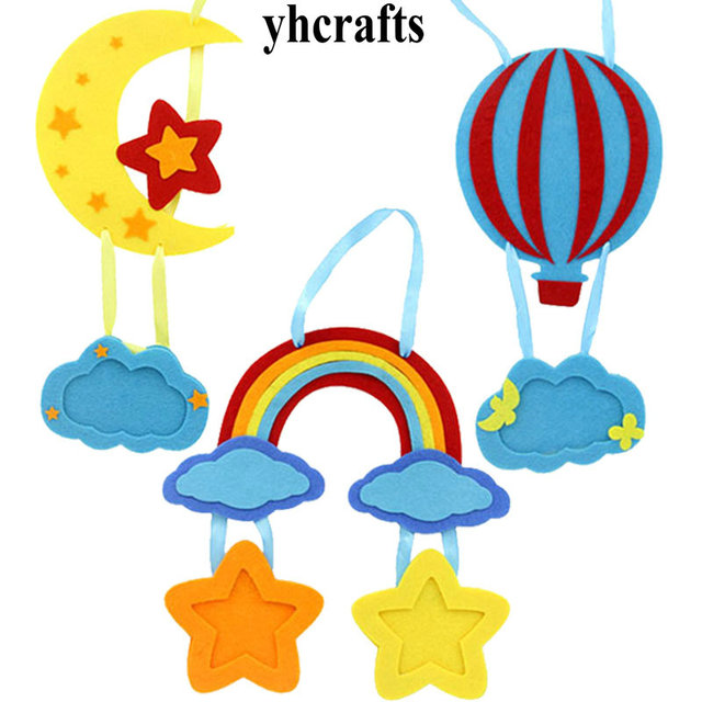 3PCS/LOT.Rainbow moon ballon hanger with picture frame craft kits ...